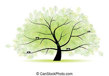 木, 偉人, 古い, あなたの, デザイン