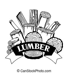 木, 林業, トランクス, デザイン, 木材を伐採する, 背景, planks., 産業, 製材