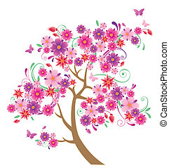木, 花が咲く