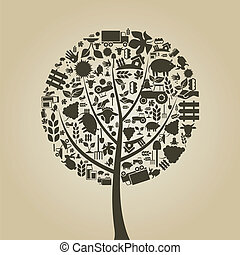 木, 農業