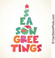 木, typographical, クリスマス