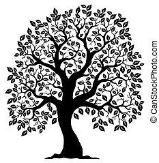 木3, シルエット, 形づくられた