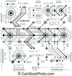未来派, 幾何学的, draft., 形, 図画, ライン, ベクトル, 急いで行った, 工学, 壁紙, 技術, テクニカル