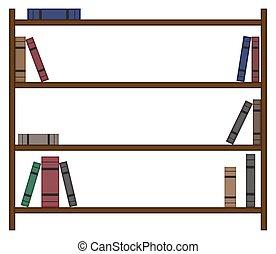 本棚, 少数, 本, 空