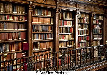 本, 古い, 図書館