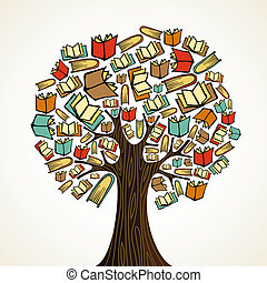 本, 木, 概念, 教育