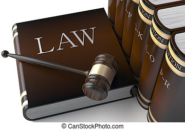 本, 法律, 横列, 革
