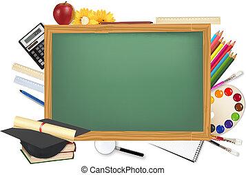 机, 供給, 学校, 緑