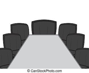 机, 部屋, 会議