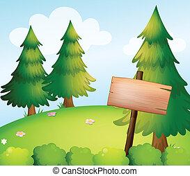 板, 印, 木製である, ブランク, 森林