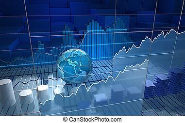 板, 株式取引所, 抽象的