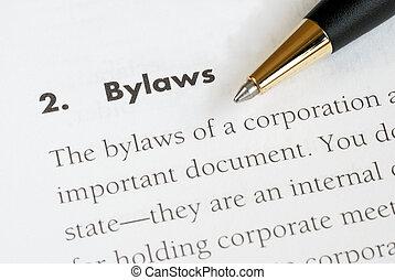株式会社, bylaws