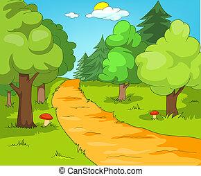 森林, 林間の空き地