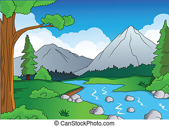 森林, 背景, 自然