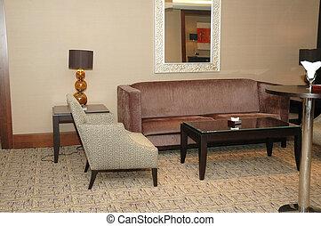 椅子, ソファー, ホテルのロビー