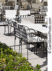 椅子, テーブル, レストラン
