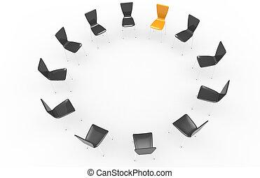 椅子, circle.