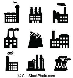 植物, 工場, 産業, 力, 建物