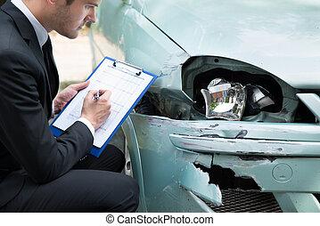検査, 事故, 自動車, 後で, エージェント, 保険