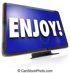 楽しみなさい, テレビ, 単語, 催し物, hdtv, プログラム