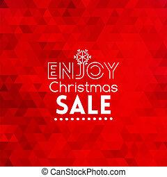 楽しみなさい, 抽象的, セール, 赤い背景, クリスマスカード