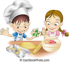楽しみ, 持つこと, 2, 台所, 子供