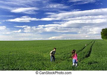 楽しみ, 牧草地
