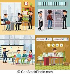 概念, カラフルである, ビジネス