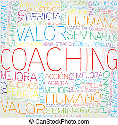 概念, コーチ, 関係した, スペイン語