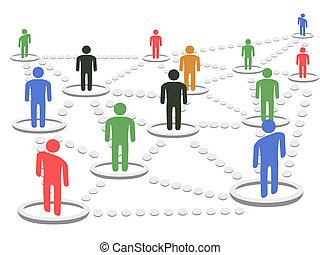 概念, ネットワーク, ビジネス