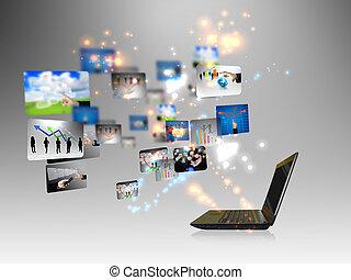 概念, ビジネス, オンラインで