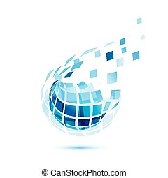 概念, ビジネス, 抽象的, comunication, アイコン, 地球