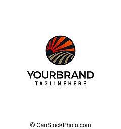 概念, ベクトル, デザイン, テンプレート, ロゴ, 農業, 風景