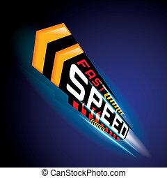 概念, ベクトル, 速くスピードを出しなさい