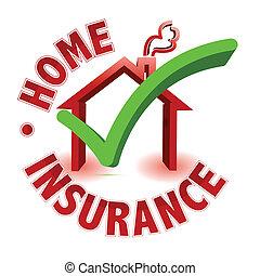 概念, 保険, 家