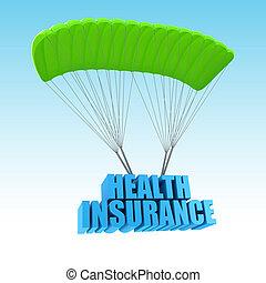 概念, 健康保険, イラスト, 3d