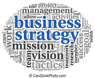 概念, 単語, ビジネス戦略, タグ, 雲
