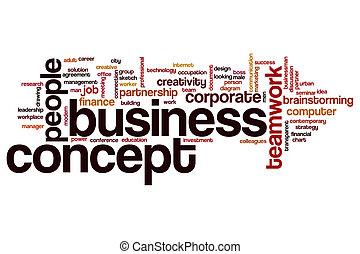 概念, 単語, ビジネス, 雲