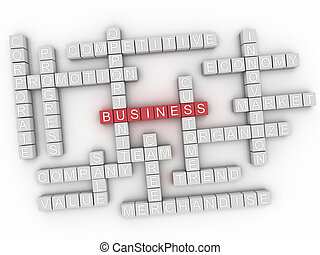 概念, 単語, ビジネス, 雲, 3d