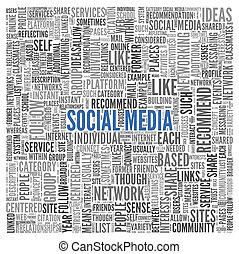 概念, 単語, 媒体, タグ, 背景, 社会, 白い雲