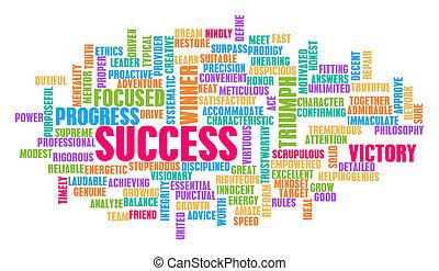 概念, 単語, 成功, 雲