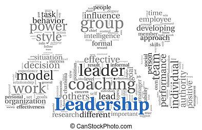 概念, 単語, 雲, リーダーシップ, タグ