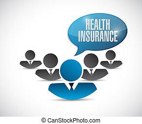 概念, 印, 健康, avatar, チーム, 保険