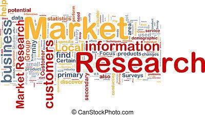 概念, 市場, 背景, 研究