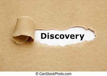 概念, 引き裂かれたペーパー, 発見