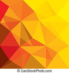 概念, 形, オレンジ, ベクトル, 背景, 幾何学的, 赤