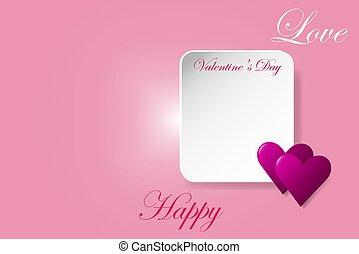 概念, 愛, バレンタイン, ベクトル, 日, 幸せ
