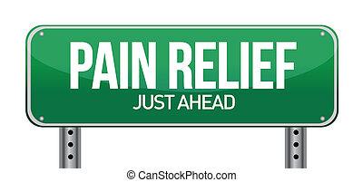 概念, 痛み, 印, 交通, 救助, 道