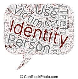 概念, 盗み, テキスト, wordcloud, 背景, アイデンティティー, 定義しなさい