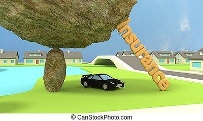 概念, 自動車, 岩, スポーツ, insurence, 下に